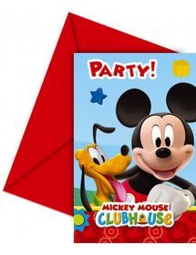 Convites Mickey (pack 6)