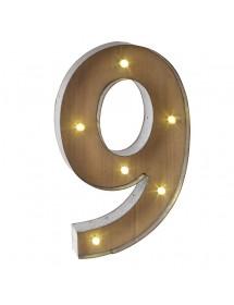 Número 9 Luminoso (40 cm)