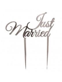 Decoração Bolo JUST MARRIED