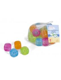Cubo Gelo Colorido Plástico (pack 20)