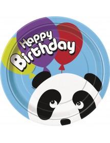 Pratos Panda (pack 8) 23cm