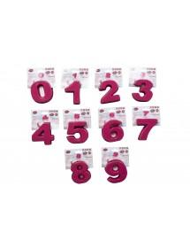 Forma Silicone Número (de 1 a 9) 9cm