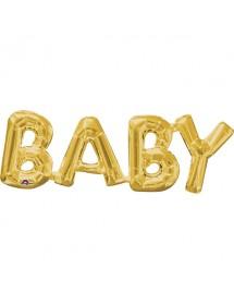 Balão Foil BABY Prateado 40cm