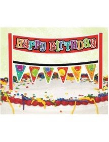 Banner Happy Birthday para Bolos (16.50cm)