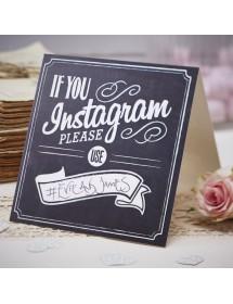 Marcador de Mesa Instagram