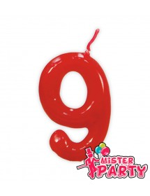 Vela Aniversário Vermelho