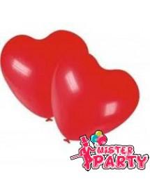 Balão de Coração Vermelho ( Pack 100 )