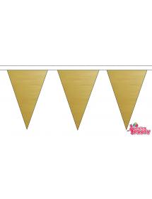 Bandeiras Douradas Plástico ( 10m )