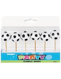 Velas Bolas Futebol ( Pack 6 )