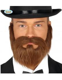 Barba e Bigode Castanha
