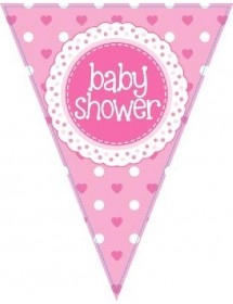 Bandeiras Baby Shower ( Rosa )