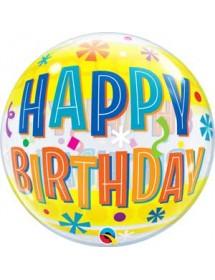 Bubble Qualatex Happy Birthday