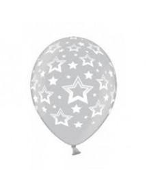 Balões Prateados Estrelas ( Pack 6 )