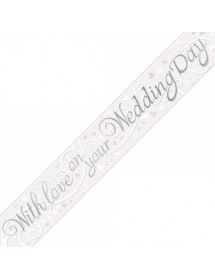 Banner With Love on Your Wedding Day