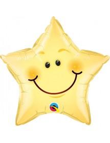 Balão Estrela Foil Smile ( 51cm )