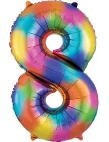 Balão Foil Número (86cm) Multicor