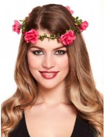 Coroa de Flores Rosa