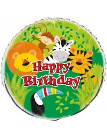 Balão Foil Selva Happy Birthday 45cm