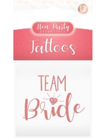 Tatuagens Team Bride ( Pack 12 )