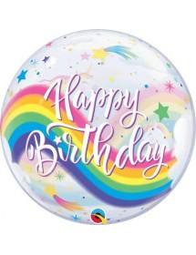 Bubble Qualatex Happy Birthday Unicórnio