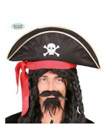 Chapéu Pirata C/Fita Vermelha