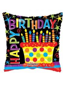 Balão Foil Bolo Aniversário 46cm
