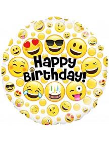Balão Foil Emojis Aniversário 45cm