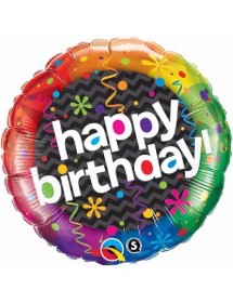 Balão Foil Qualatex Aniversário II 46cm
