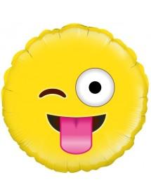 Balão Foil Crazy Emoji 45cm