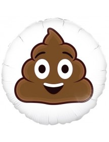 Balão Foil Emoji Sorridente ( Poop ) 45cm