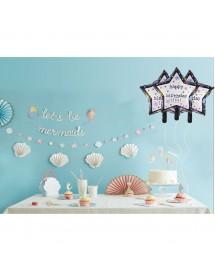 Balão Foil Estrela Happy Birthday 51cm