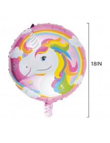 Balão Redondo Foil Unicórnio
