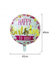 Balão Foil Redondo Bolas Happy Birthday