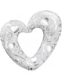 Coração Foil ( 106 cm )