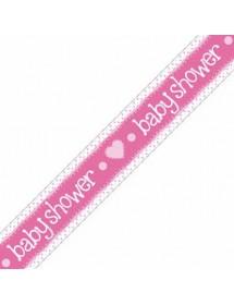 Banner Baby Shower Rosa