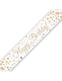 Banner Happy Birthday Rosa Gold