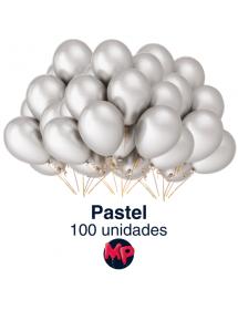 Balões Brancos Latex Pastel Pack 100 ( Belbal ) 30cm