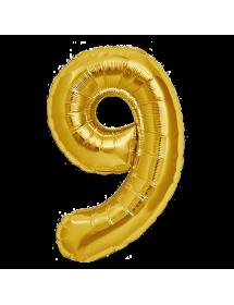 Número Foil Gigante (0-9) Gold