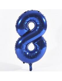 Número Foil Gigante (0-9) Azul
