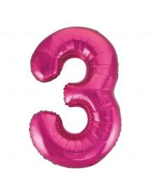 Número Foil Gigante (0-9) Rosa