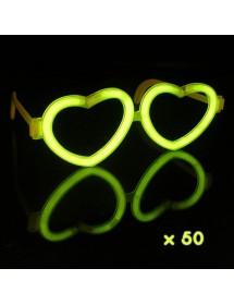 Óculos Coração Glow (50 unidades)