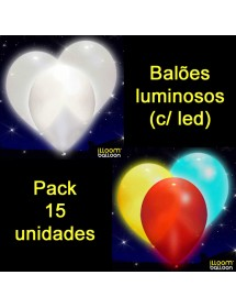 Balões Luminosos LED (pack 15)
