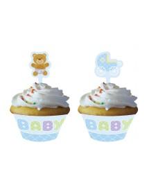 12 Cupcakes Kits Azul