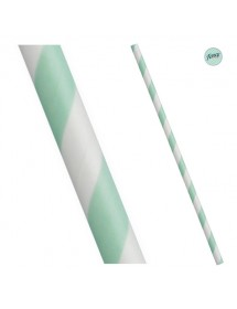 Palhinhas Papel Riscas Verde (pack 25